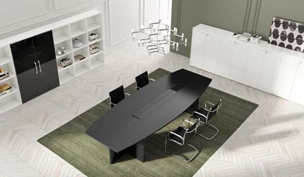 Mod. Slim shaped conference table